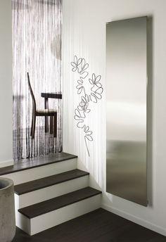 vertical inox eletric radiator by Acova Living Room, House Design, House, Interior, House Heating, New Homes, Home Decor, Radiators, Bathrooms Remodel