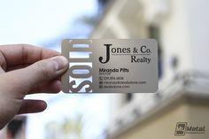 Realtor Business Card by MyMetalBusinessCard.com #realtor #lastingimpression #stainlesssteel