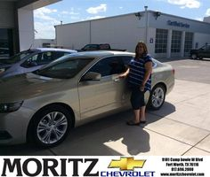 Congratulations to Lori Lee Page on your new car  purchase from Augustine Moralez at Moritz Chevrolet! #NewCar