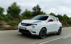2013 Nissan Juke Nismo--a 200-hp, aero-kitted-out version of Nissan's quirky CUV.