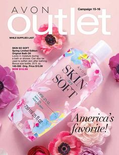 AVON Outlet Campaigns America's Favorite-Skin So Soft, Spring Limited Edition Original Bath Oil. While Supplies Last! Avon Outlet, Avon Brochure, Brochure Online, Avon Catalog, Catalog Online, Avon Sales, Makeup And Beauty Blog, Shops, Perfume