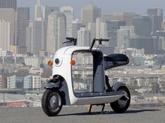 Kubo electric scooter is a unique, fun scooter to ride around the city. The hollow body reminds us to Stinger and Cargo, well, great minds think alike.