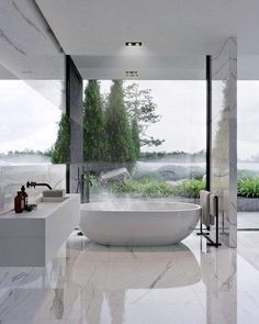 Marble Bathroom Floor, White Marble Bathrooms, Bathroom Wall Decor, Bathroom Styling, Master Bathroom, Bathroom Canvas, Zen Bathroom, Bathroom Mirrors, Bathroom Ideas