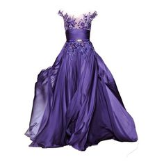 Fairy by baska-14 on Polyvore featuring polyvore, fashion, clothing, dresses, gowns, purple, vestidos, evening gowns, blue gown and blue ball gown