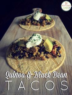 You know those recipes you make over and over again? This quinoa and black bean taco recipe is your new favorite. A great healthy dinner idea -- and great topped with your fave salsa!