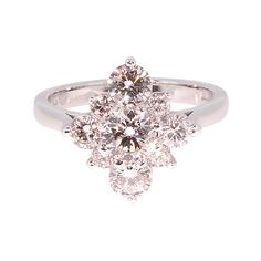Unique Modern Diamond Engagement Rings | modern round brilliant diamond cluster ring an exquisite diamond ...
