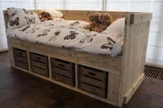 Steigerhouten bed kinder google zoeken voor de kinderen pinterest - Loft bed met opbergruimte ...