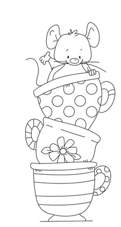 Cute mouse rubber stamp Transparent Clear Stamps Silicone Seals for DIY scrapbooking photo album Card Making-in Stamps from Home & Garden on AliExpress Cute Coloring Pages, Coloring For Kids, Adult Coloring Pages, Coloring Books, Scrapbooking Photo, Diy Scrapbook, Art Drawings For Kids, Easy Drawings, Animal Drawings
