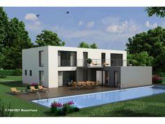 Modernes architektenhaus karlsruhe neubau 1 5 for Zweifamilienhaus bauhausstil