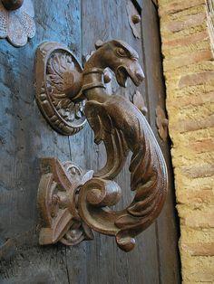 Door Detail ~ Dragón in Aldaba, Spain