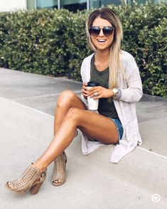 https://www.liketoknow.it/livingmybeststyle Cute Summer Outfits, Summer Wear, New Outfits, Spring Summer Fashion, Spring Outfits, Casual Outfits, Cute Outfits, Fashion Outfits, Womens Fashion