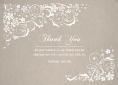 Thank You Card |  Customizable with your own details |  CatPrint Design #272