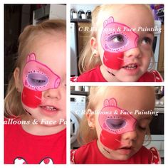 Peppa sugar skull Pig Face Paint, Pig Party, Peppa Pig, Paint Ideas, Sugar Skull, Theatre, Birthday Parties, Characters, Makeup