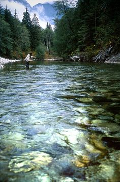 James Wiley of Wiley Flies enjoys some fly fishing on the Silverhope in Hope, BC. Photo by Justin Brown. www.HopeBC.ca