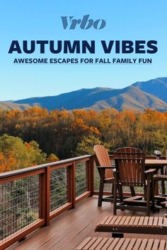 Family Getaways, Autumn Art, Great Smoky Mountains, Fall Family, Vacation Rentals, Places To Visit, Deck, Leaves, Change