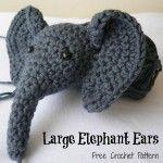 Large Crochet Elephant Ears (Amigurumi)