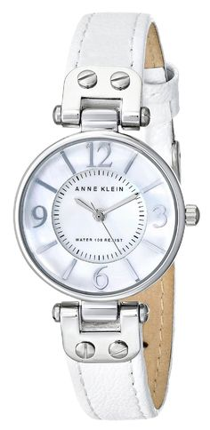 Anne Klein Women's 10/9889MPWT Watch with Leather Band -- Read more reviews of the watch by visiting the link on the image.