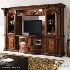 Estates TV Console | You won't have to sacrifice the beauty of your traditional living room to have a fantastic home theater setup.