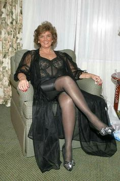 Something also naked aunt in pantyhose