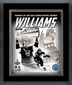 Justin Williams Framed With double black matting Ready To Hang- Awesome & Beautiful