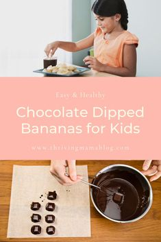Ok so my kids LOVE these! We are always looking for chocolate recipes that are healthy and simple enough to make that the kids can help. Plus I don't feel guilty snagging a few of these gluten free treats for myself! Healthy Baby Food, Healthy Meals For Kids, Dinner Recipes For Kids, Baby Food Recipes, Whole Food Recipes, Healthy Snacks, Healthy Recipes, Snack Recipes, Dairy Free Chocolate Chips