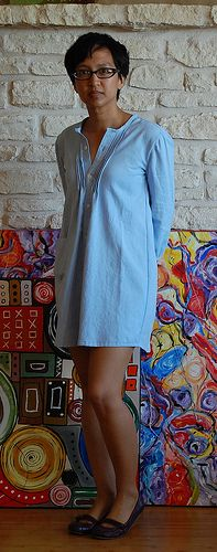 :: clevergirl.org :::  Earth Day Pintucked Shirtdress from Men's Button-Down Dress Shirt
