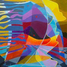 La croix du sud, art contemporain, oeuvre originale, galerie d'art, artiste peintre, galerie peinture, acrylique, peinture abstraite, abstrait, peace