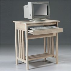Shop Unfinished Mission Wood Computer Cart by International Concepts  at Furniture Sale Prices from our Computer Carts Department or compare by SKU 273 online at OneWay Furniture.