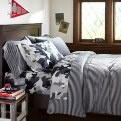 Boys bedroom, camo and strips!! :: PB Teen