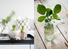 decorar con jarrones estilo nórdico : via MIBLOG