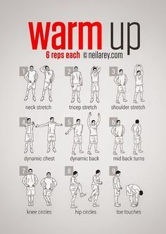 Pre-Workout Warm-Up This warmup routine will allow the muscles and tendons to…