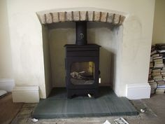 Image result for wood burning stove hearth