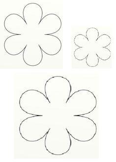 craf moldes de flores - Pesquisa Google