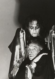Alice Cooper and Vincent Price.