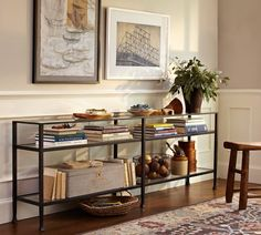 Tanner Long Console Table | Pottery Barn (for living room?)