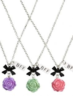 BFF Rose Necklaces || Bridget, Claire And I???