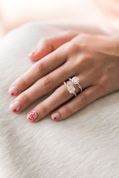 Intertwined band engagement rings by James Allen