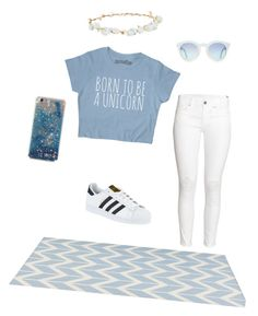 """""""Untitled #7"""" by fashionfever204 on Polyvore featuring H&M, adidas, Robert Rose and Jill Rosenwald"""