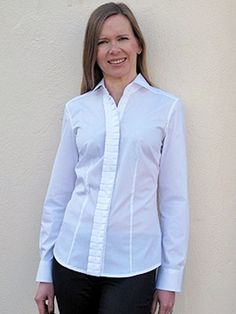 HADLEY - NEW. Classic tailored White Shirt with concertina pleated button through covered placket. £95. www.theperfectwhiteshirt.com