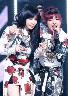 Park Bom and Minzy
