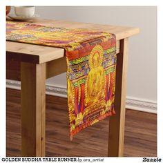 GOLDEN BUDDHA HOLIDAY TABLE RUNNER