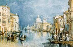 Titulo de la imágen Joseph Mallord William Turner  - Venecia, Gran Canal
