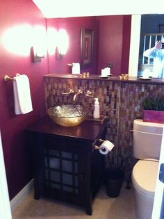 Powder Room by Litt's Plumbing Kitchen & Bath Gallery #bathroom