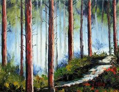 Your place to buy and sell all things handmade San Francisco, Forest Art, Palette Knife Painting, Country Artists, Beautiful Sky, Oil On Canvas, Modern Art, Original Paintings, Landscape