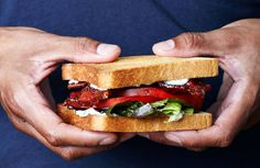 For this ultimate BLT recipe, two sweet-salty finishings let guests craft their own signature sandwiches, but if you're a purist, leave them off and let the (excellent) bacon speak for itself. Blt Recipes, Cooking Recipes, Sandwich Recipes, Easy Cooking, Healthy Cooking, Dessert Recipes, Healthy Eating, Veggie Sandwich, Gastronomia