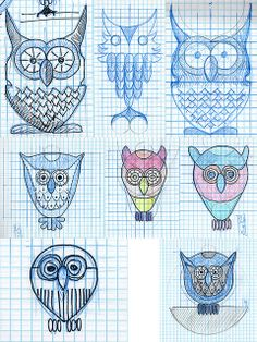 How to design and apply textures to a cute lil' owl - all the versions by Simon Birky Hartmann, via Flickr