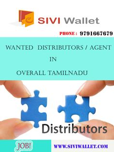 Wanted-DISTRIBUTORS / AGENTS in overall Tamilnadu Immediate Appointment More details Contact : 9791667679 www.siviwallet.com