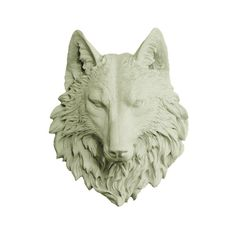 The Sierra | Large Wolf Head | Faux Taxidermy | Sage Green Resin
