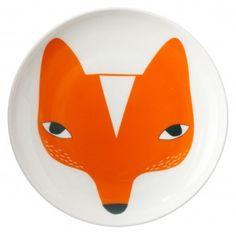 cerámica plato con el zorro de donna