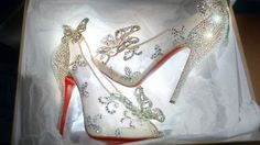 Christian Louboutin: Cinderella Glass Slippers <3 <3 <3